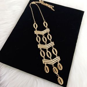 Jewelry - 🎈SALE🎈 Boho Maxi Gold Hollow Hoop Necklace NWOT